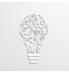 modern lightbulb of the icons vector image vector image