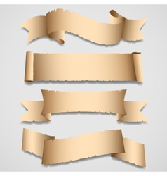 old banners and ribbons set vector image