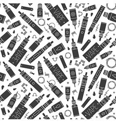 Seamless pattern for vape shop and vape service vector
