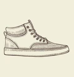 Sketch of sport shoes vector