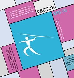 Summer sports javelin throw icon sign modern flat vector