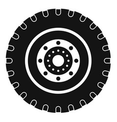 Tyre icon simple style vector