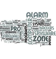 Zonelabs zone alarm pro review text word cloud vector