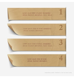 Old paper numbered banners vector