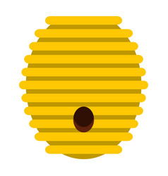beehive icon flat style vector image