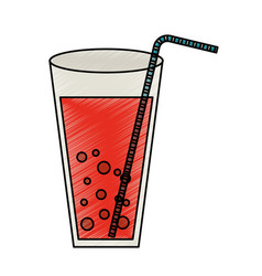 juice fruit glass icon vector image
