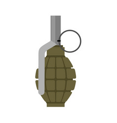 Military grenade green army explosives soldiery vector