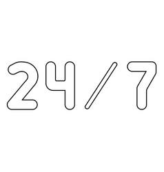 247 service the black color icon vector