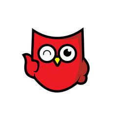 Owl icon shield integrity vector