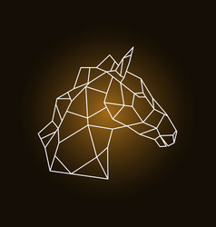 Horse head side view geometric style vector