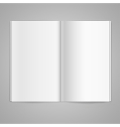 Magazine double page spread with blank pages vector