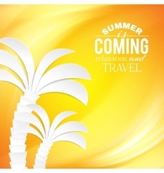 Summer background and tropical palm vector