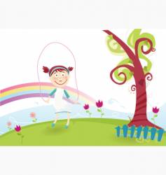 Spring is illustration vector