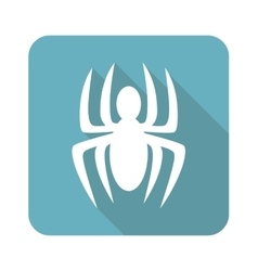Spider icon square vector