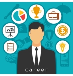 Career business and finance concept from flat vector