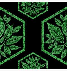 seamless tree pattern 3 grunge vector image