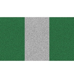 Flags nigeria on denim texture vector