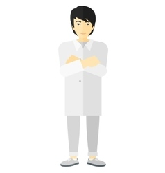 Male laboratory assistant vector