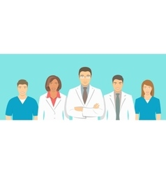 Medical clinic doctors team flat vector