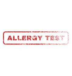 Allergy test rubber stamp vector