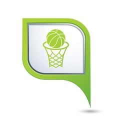 Basketball green pointer vector