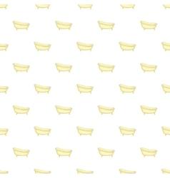 Bathtub pattern cartoon style vector