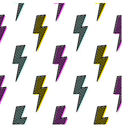 bright lightning bolt seamless pattern fun design vector image vector image