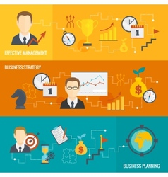 Business strategy planning banner set vector