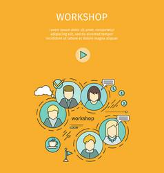 business workshop banner vector image