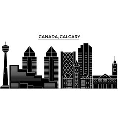 Canada calgary architecture city skyline vector