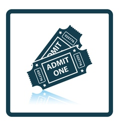 Cinema tickets icon vector image