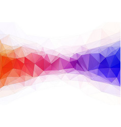 color triangle geometric vector image