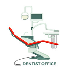 dentist office with comfortable chair and modern vector image vector image