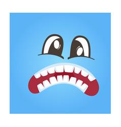 Disconcerted smiley face icon vector