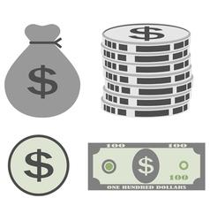 dollar set vector image