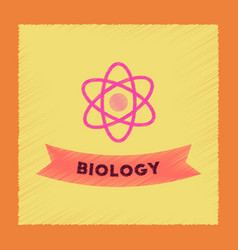 flat shading style icon biology molecule vector image vector image