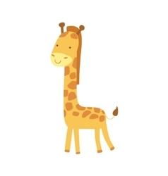 Giraffe Stylized Childish Drawing vector image vector image