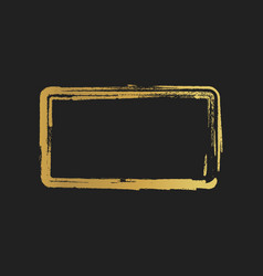golden grunge vintage painted rectangle shapes vector image vector image