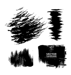 Handdrawing texture brush strokes of ink vector image vector image