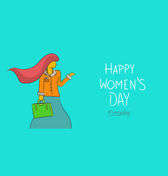 Happy womens day business lady concept background vector