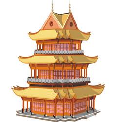 japanese pagoda vector image vector image