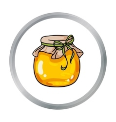 Jar of honey icon in cartoon style isolated on vector image vector image