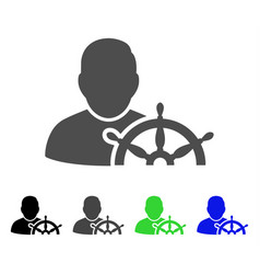 Navigation captain flat icon vector