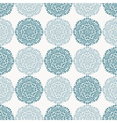 Navy blue lace flower pattern on white background vector
