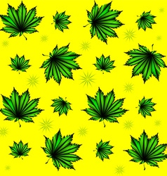 Pattern of green leaves vector image
