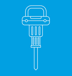 Pneumatic hammer icon outline vector