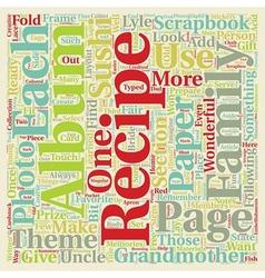 Recipe Scrapbook Albums Are Fun text background vector image vector image