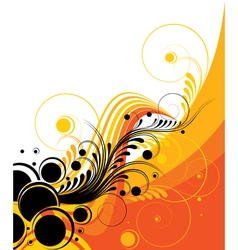 retro abstract design vector image