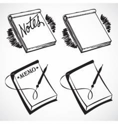 retro notebooks vector image vector image