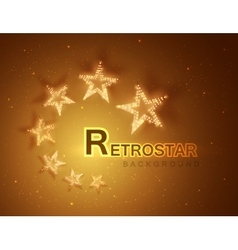Retro stars abstract background for your design vector image